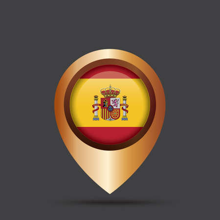 map pointer: spain map pointer