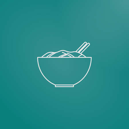 basic food: bowl with food Illustration