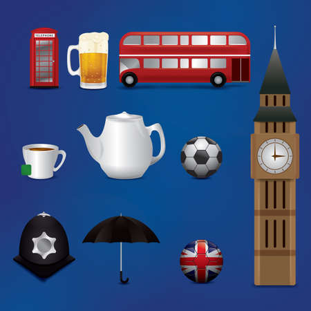 uk: collection of uk icons