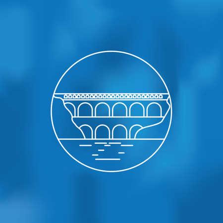 pont de l'archevenche Stock Illustratie