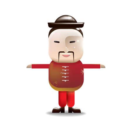 guy standing: chinese man