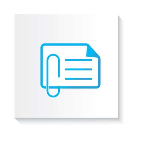 attach: adjuntar el icono de documento