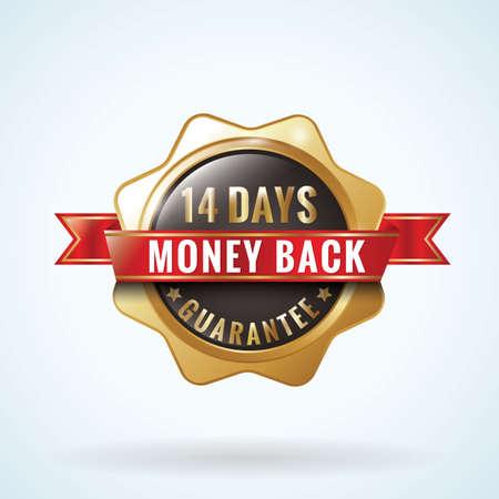 money back guaranteed badge Ilustração