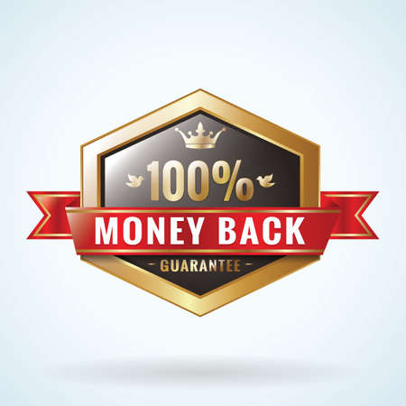 money back: money back guaranteed badge Illustration