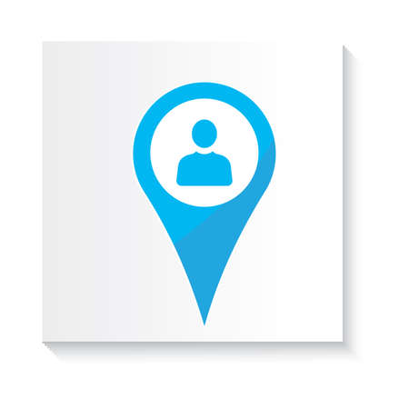 contacting: location pin with user icon