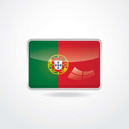 portugal flag: portugal flag button