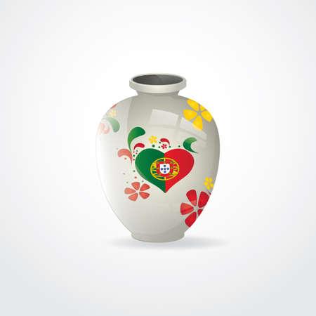 ceramic: ceramic flower vase Illustration