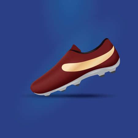 soccer shoe: sports shoe Illustration
