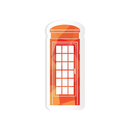 telephone box: telephone box sticker