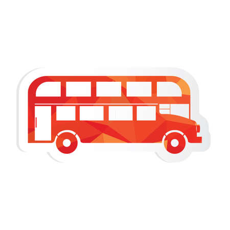 double decker: double decker bus sticker Illustration