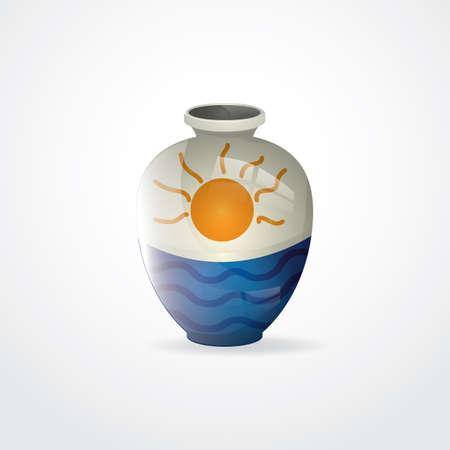 flower vase: ceramic flower vase Illustration