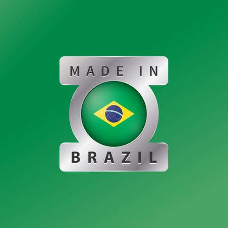 brazil flag: brazil flag label