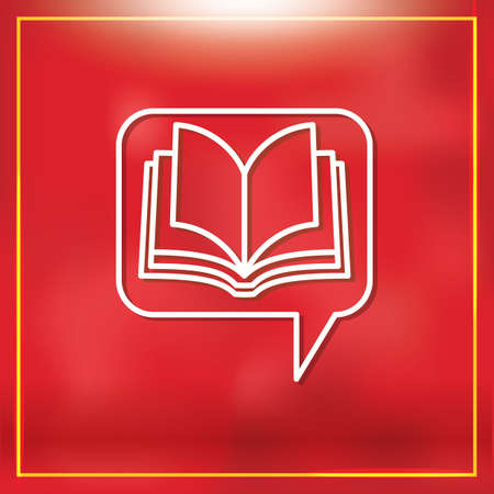 chat bubble: chat bubble with book
