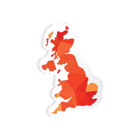 united kingdom map sticker