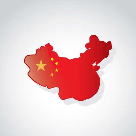 chinese map: Mapa de China Vectores