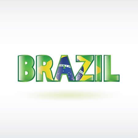 exposici�n: doble exposici�n de la palabra brasil