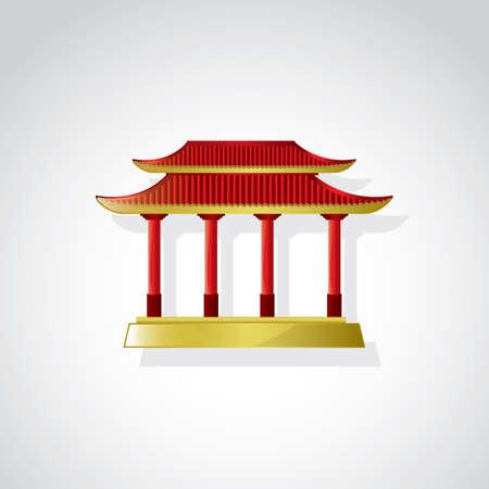 Templo chino  Foto de archivo - 49726264