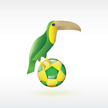 toucan: toco toucan with soccer ball