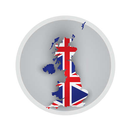 uk flag: uk mapa de la bandera icono Vectores