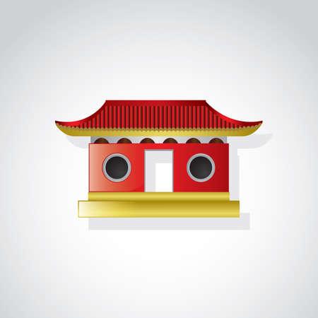 Templo chino  Ilustración de vector