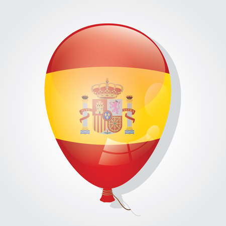 inflated: spain flag on balloon