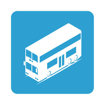 hongkong: double-decker bus Illustration