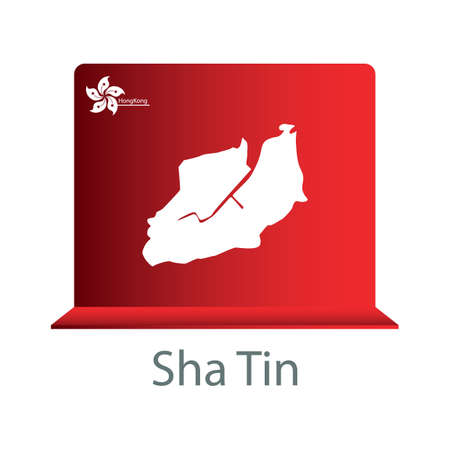 tin: sha tin map Illustration