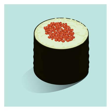 sushi roll: maki sushi roll Illustration