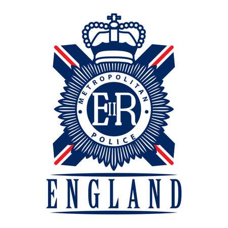 uk: uk metropolitan police emblem label Illustration