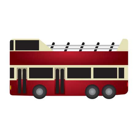 doubledecker: double-decker bus Illustration