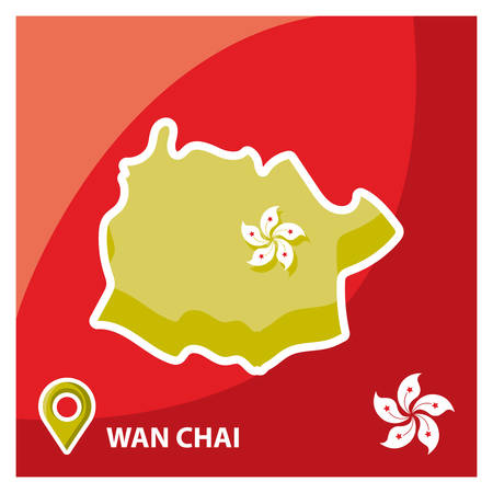 chai: wan chai map Illustration
