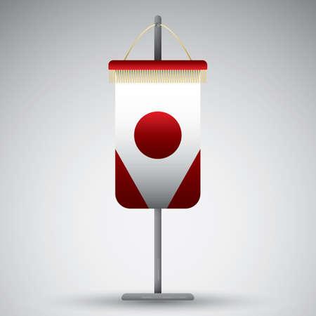 pennant: japan flag pennant