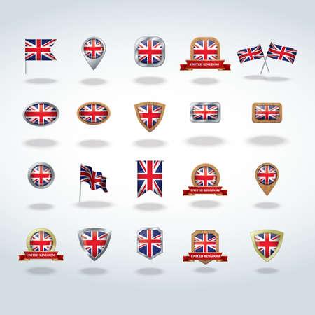 bandera reino unido: colecci�n de iconos de bandera del Reino Unido