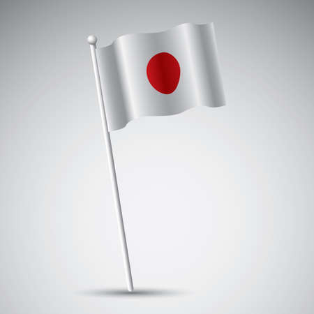 flagpole: japan flag Illustration