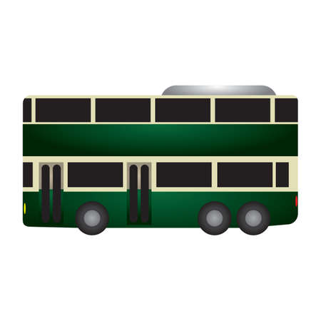 doubledecker: double-decker bus Illustration