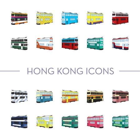 tramcar: hong kong icons