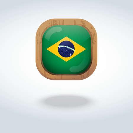 brazil flag: brazil flag icon Illustration