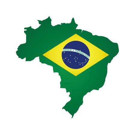 brazil flag: brazil flag map