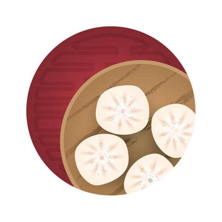 buns: steamed buns Illustration