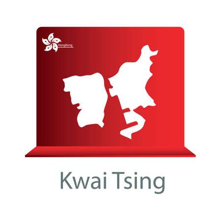 districts: kwai tsing map Illustration