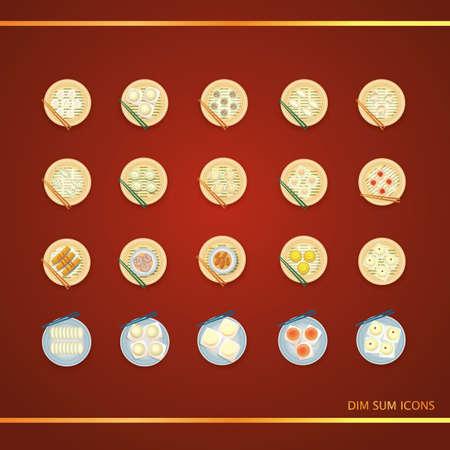 dim sum: dim sum icons