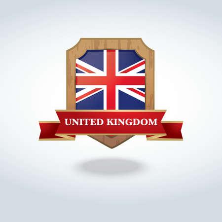united kingdom: united kingdom label Illustration