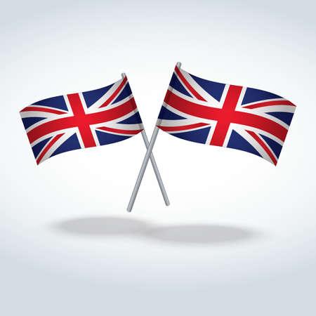 kingdom: crossed united kingdom flags Illustration