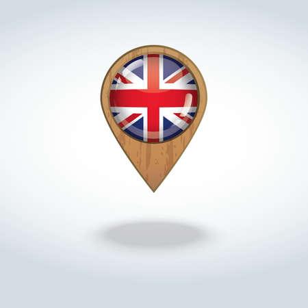 kingdom: united kingdom flag navigation pointer Illustration