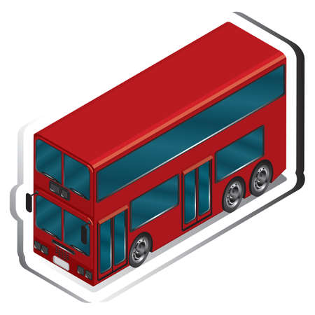 four wheeler: double-decker bus Illustration