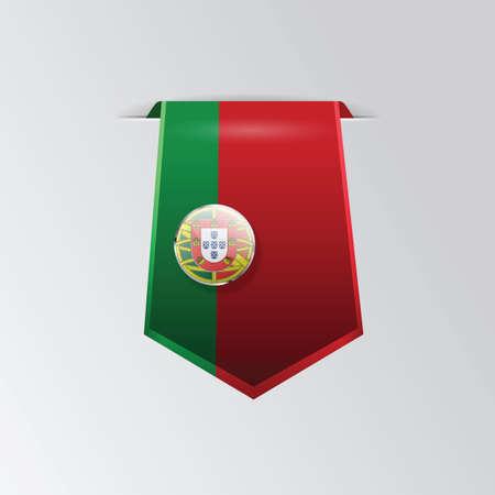 portugal: portugal flag pennant Illustration
