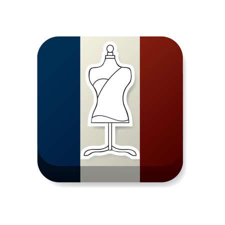 france flag: mannequin on france flag
