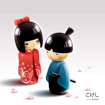 tradition: japanese wooden dolls