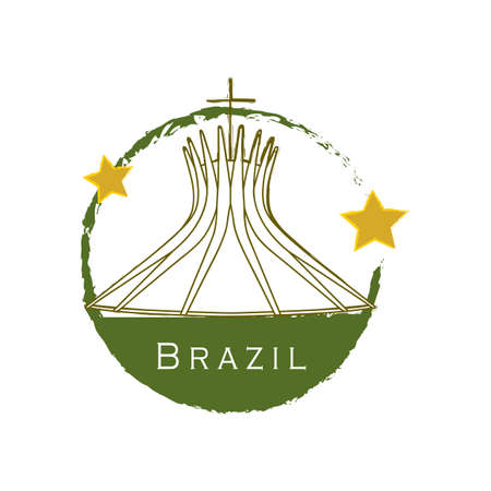 famous place: cathedral of brasilia Illustration
