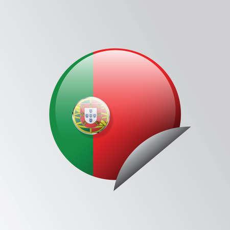 drapeau portugal: portugal autocollant drapeau